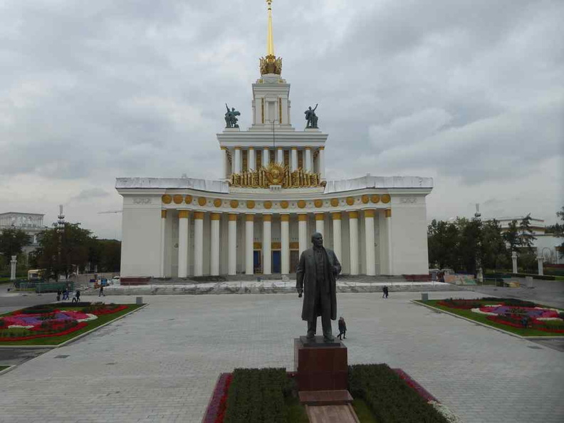 Vladimir Lenin Monument in front of the House of Peoples of Russia