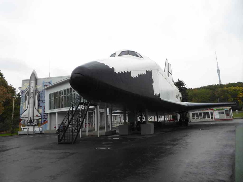 A Buran Spacecraft right in VDNKh. The Buran was the first spaceplane to be produced as part of the Soviet/Russian Buran programme