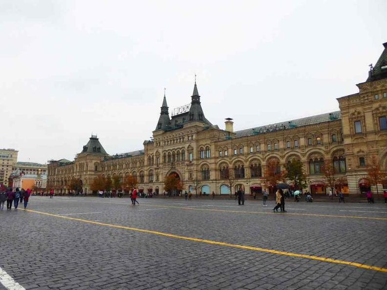 GUM departmental store is a massive departmental store running the entire length of the Red Square