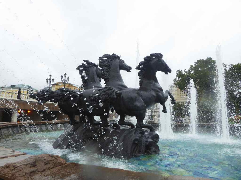 Large Horse fountains on the edge of the Alexander gardens