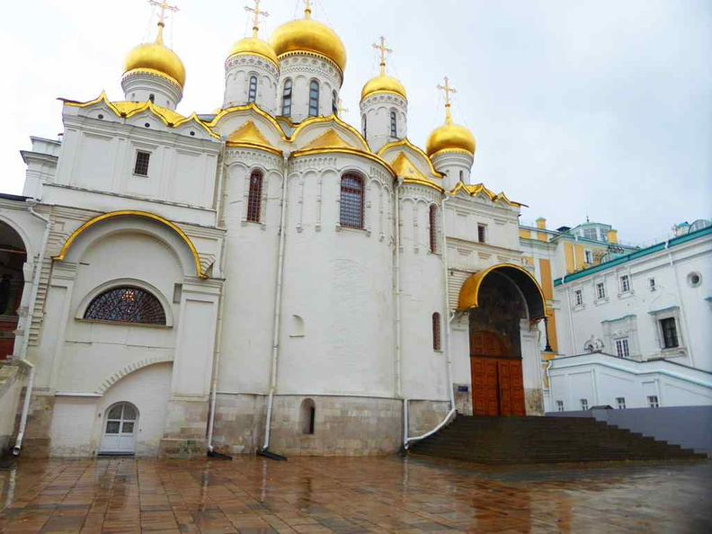 The Cathedral of the Annunciation as viewed from cathedral square. It is a Russian Orthodox church dedicated to the Annunciation of the Theotokos