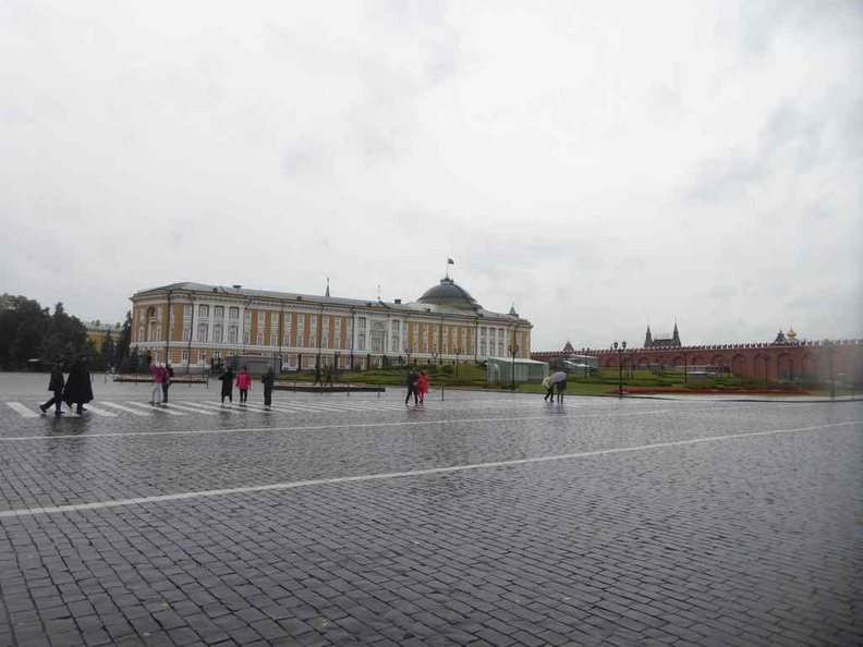 The Ivanovskaya square on the east inner Kremlin. It is surrounded by administrative buildings, such as the Senatskiy Dvorets