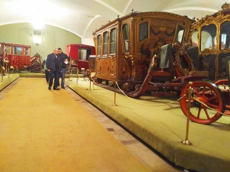 Winter sled carriages on display