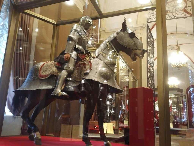 Armour carvery collection, here we have horse mounted Armour as well as swords and guns on display