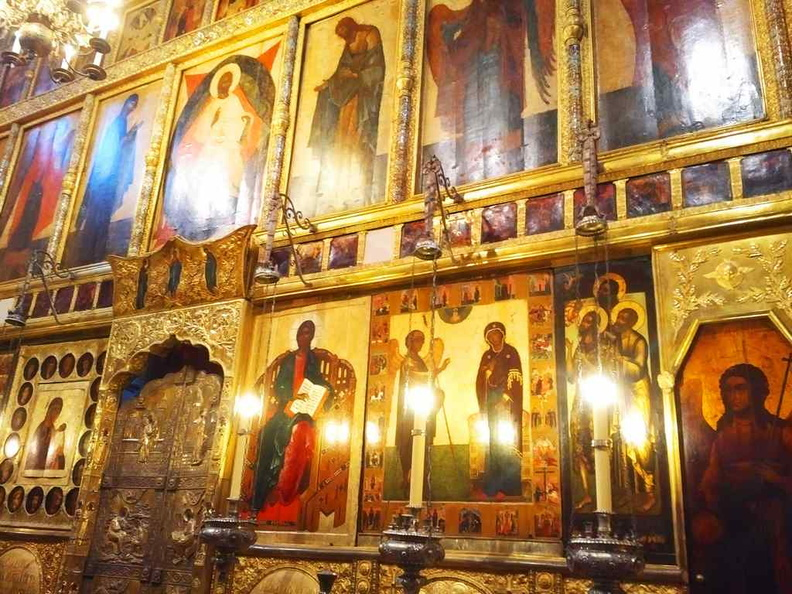 The central Iconostasis of the Annunciation Cathedral