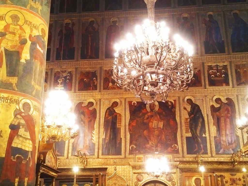 Inside the nave of the Dormition Cathedral