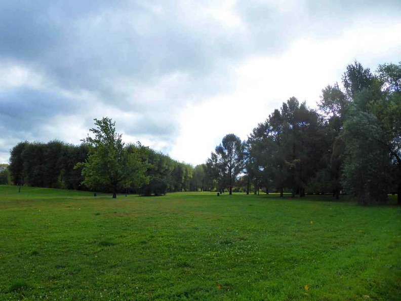 Open grassy areas in the Kolomenskoye park