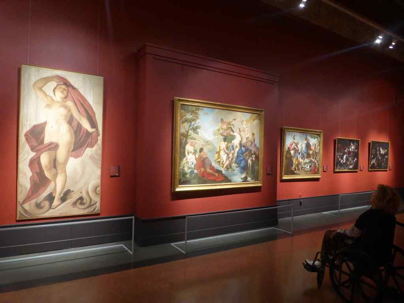 Paintings on the upper galleries. And they are wheelchair accessible too