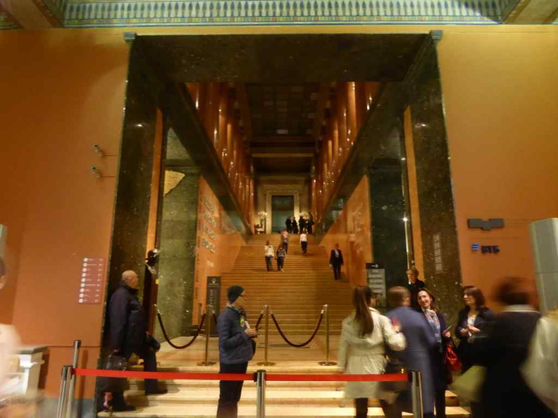 The front lobby and grand staircase