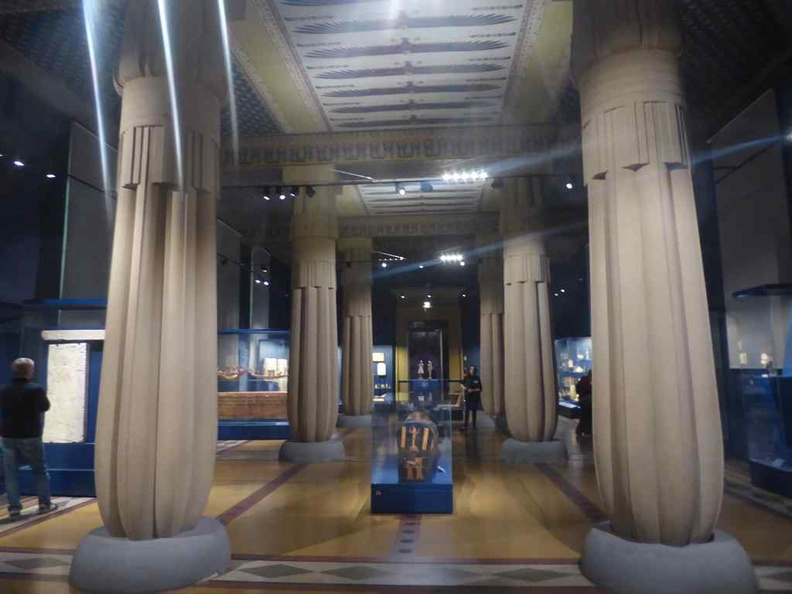 The Egyptian hall. This gallery sees a mix of large items such as sarcophagi and small ceremonial accessories.