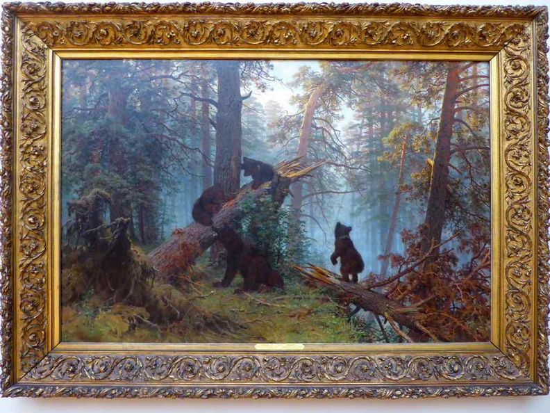 Ivan Shishkin and Konstantin Savitsky, Morning in a Pine Forest (1889)