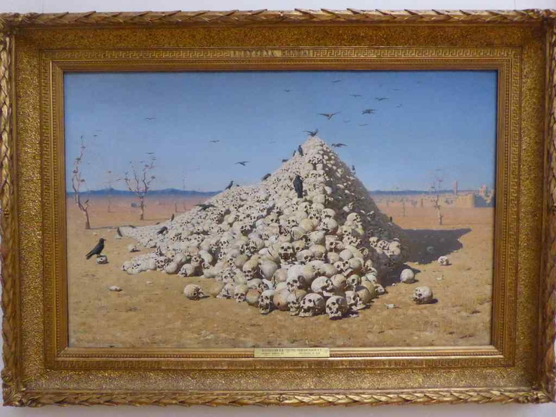 Vasily Vereshchagin, The Apotheosis of War (1871) skulls