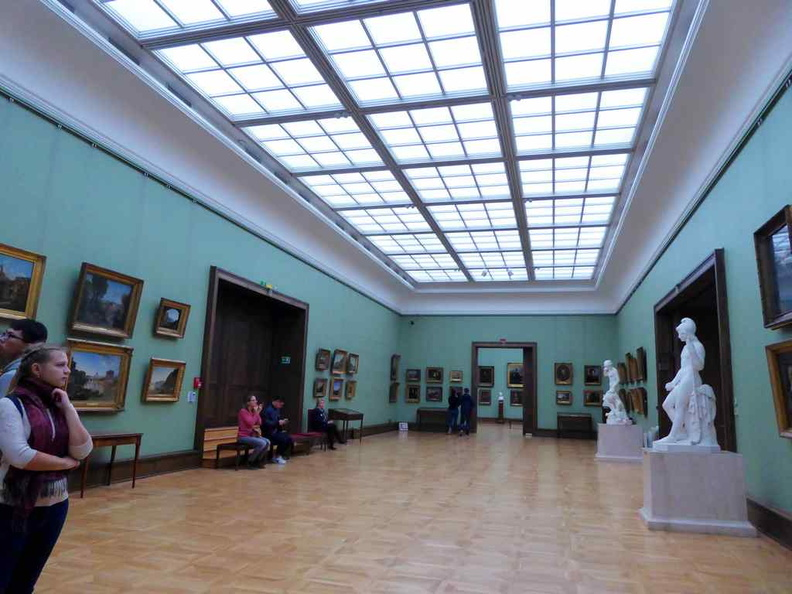 Expansive well-lit galleries