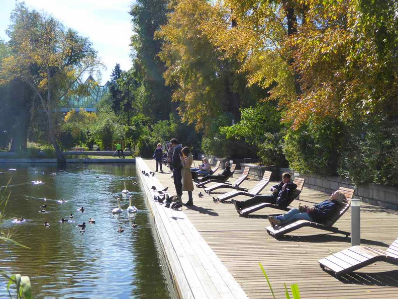 The Lake side relax areas near the park's central water bodies. There are even public benches you can use