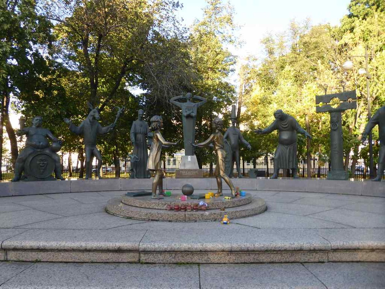 Children are the Victims of Adult Vices monument in Bolotnaya Square. A rather interestingly quirky installation