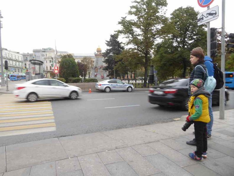 The streets of Moscow are surprisingly safe. You can see families going about their day openly with their kids
