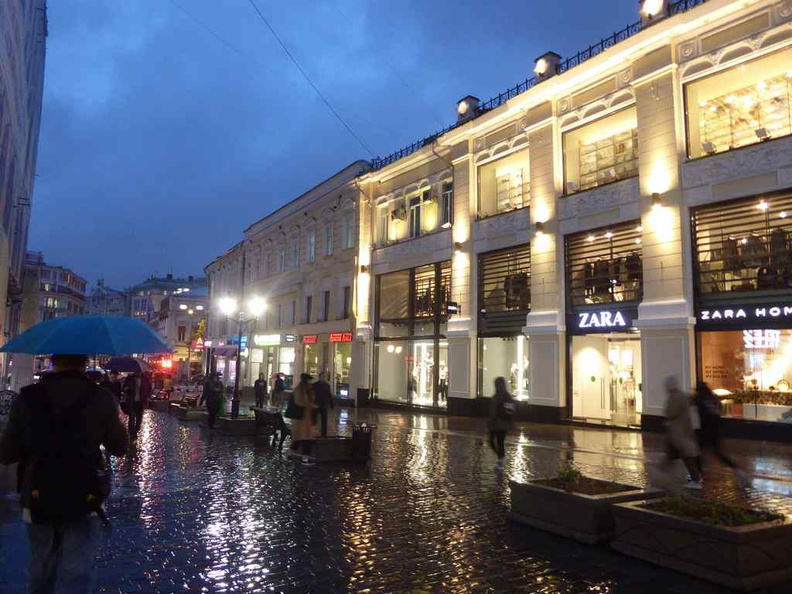 Shopping streets in the Kuznetsky Most area