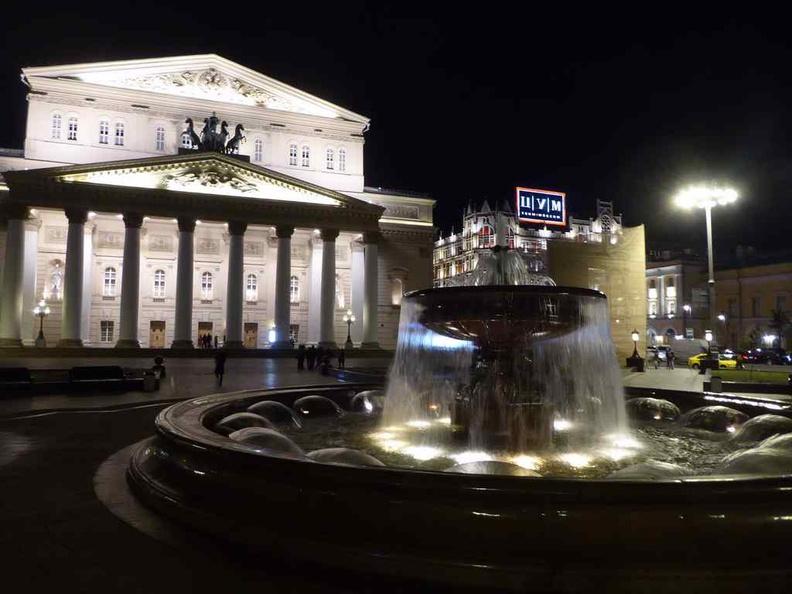 The Bolshoi Theater along Tretyakovsky Proyezd