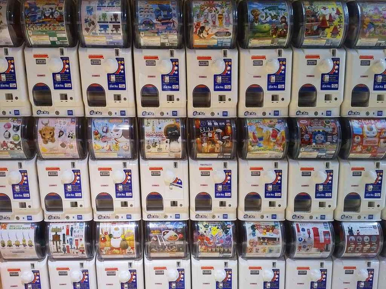 The Wall of Gachapon at the outlet exit