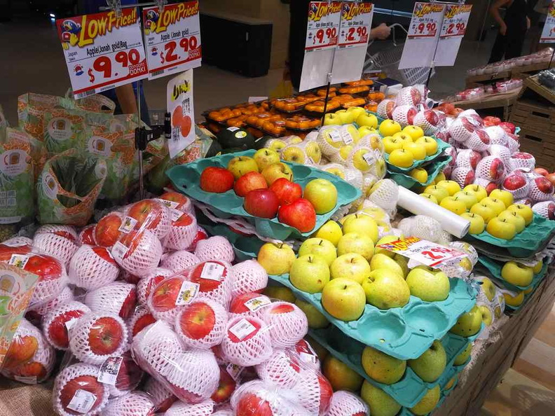 Fresh fruit produce, you can find an assortment of mostly Japanese fruit imports