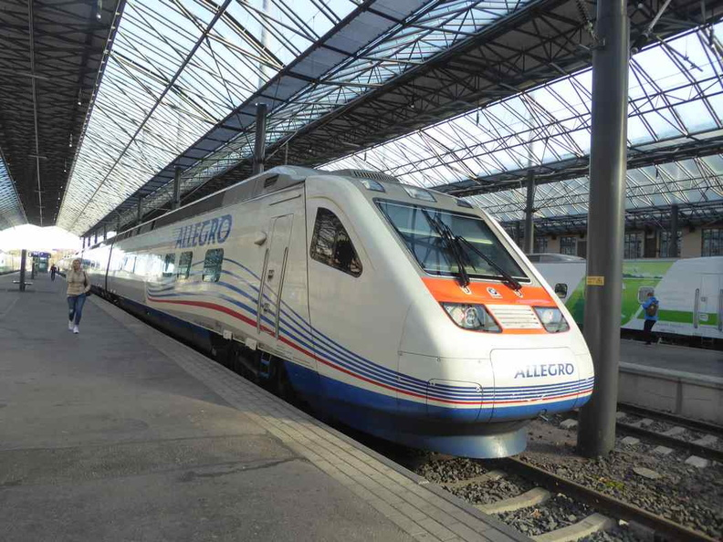 The Allegro trains which runs from major European cities into Russia through the high speed rail route