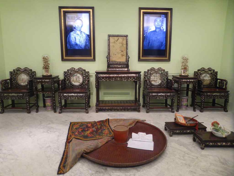 Typical Peranakan family living setting