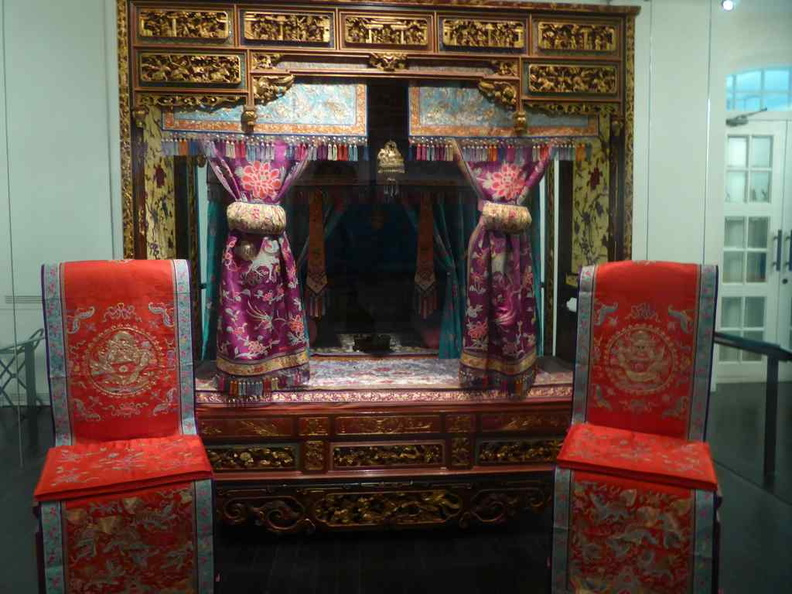 Elaborate furniture and wedding beds, typically seen in wealthy families in the era