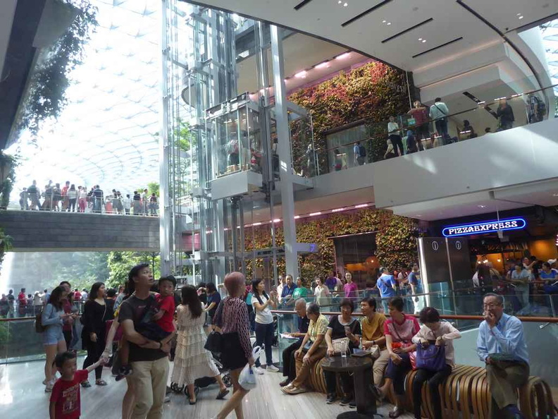 The inner shopping mall areas. They are managed by home-grown property developer Capitaland malls