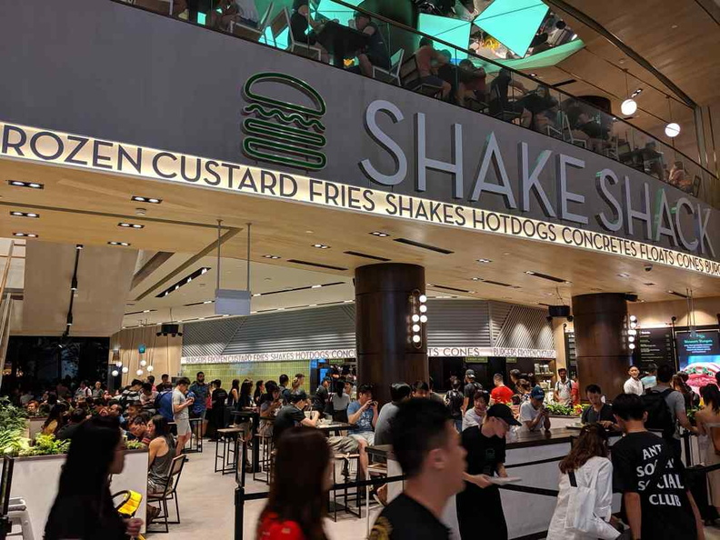 Welcome to Changi Jewel Shake Shack! And we have queues! both in and out of the restaurant