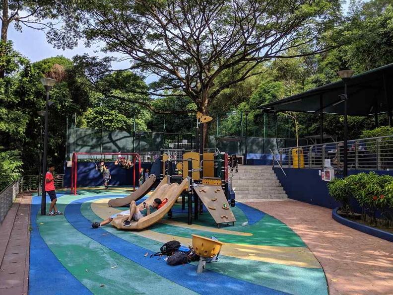 The establishment outdoor children playground