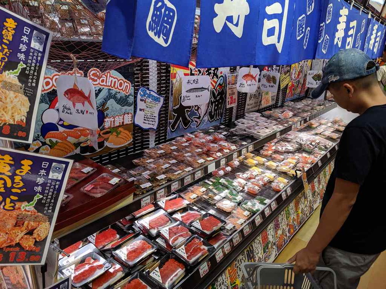 The Sashimi and Sushi section is pretty awesome. Plenty of selections available even till late, though they would not be restocked over the midnight shift