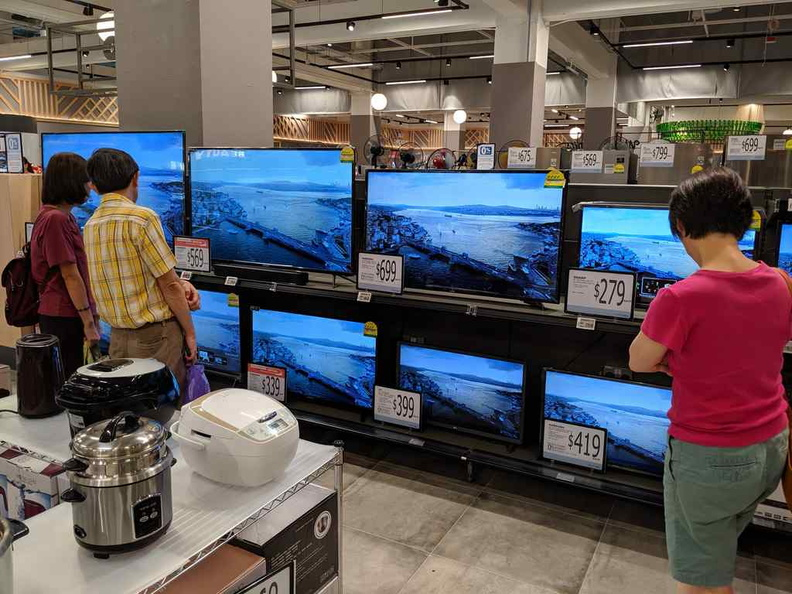 Fancy a new TV to go with your groceries? They got you all covered here