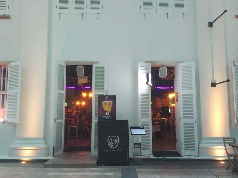 Welcome to the Armoury! The bar is hidden in one of the rows of colonial-looking shophouses along the South Beach along nicoll highway