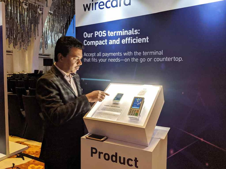 Demonstration of various Wirecard Point of sale terminals, you may have used or chanced upon one of these already in stores