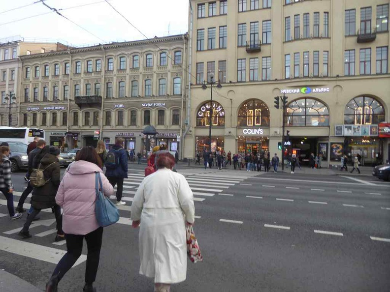 The shops along the Nevsky shopping district