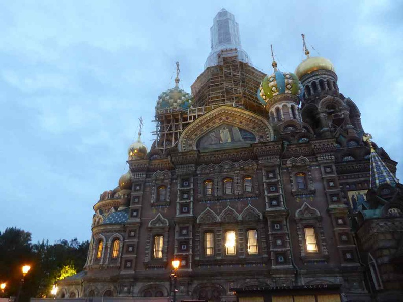 The Cathedral Savior on the Spilled Blood at night