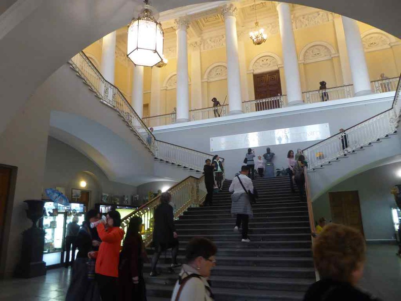 The grand staircase is where you start your journey through the galleries
