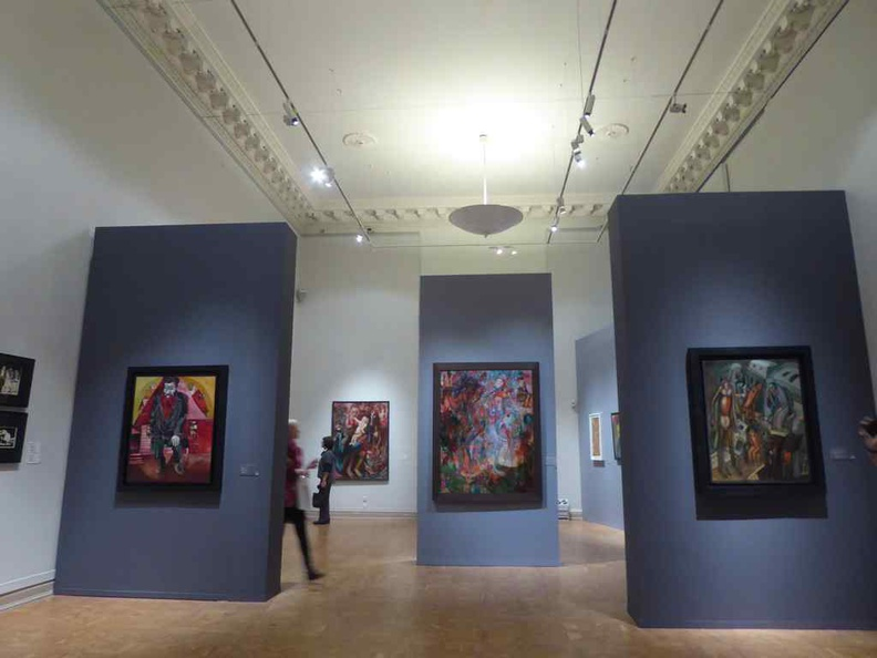 The contemporary artworks and portraits gallery on the lower floors