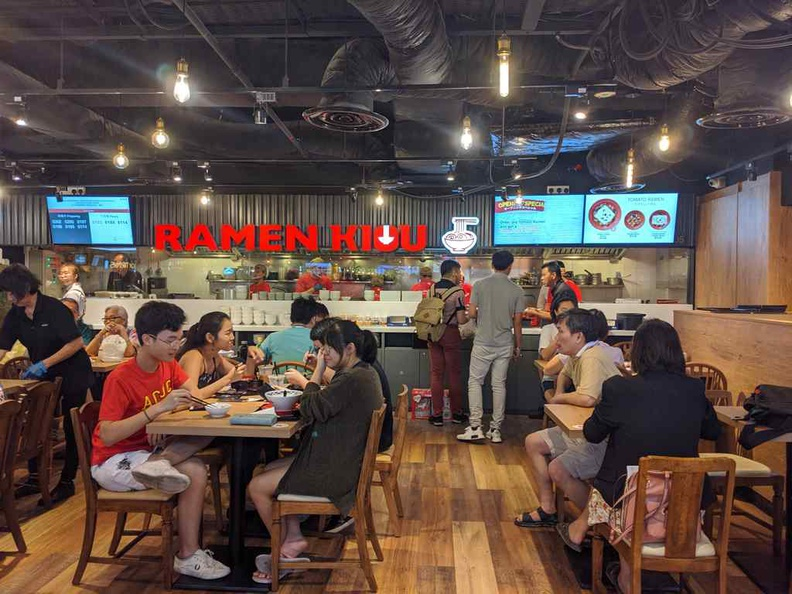 RAMEN KIOU backed by Japanese-Chinese cuisine chain operator Daishin Jitsugyo. It is the largest food court outlet here