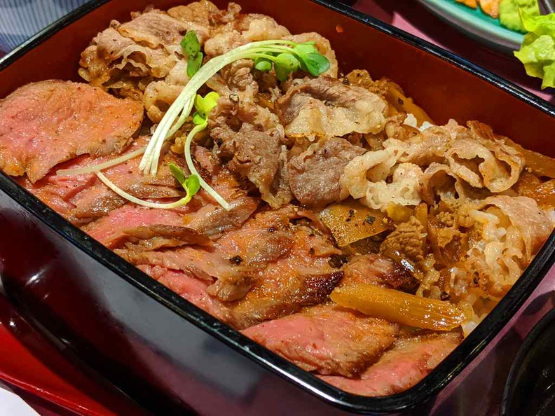 Double Beef Zen bowl, one of the recommended dishes here at $17.90 per pop
