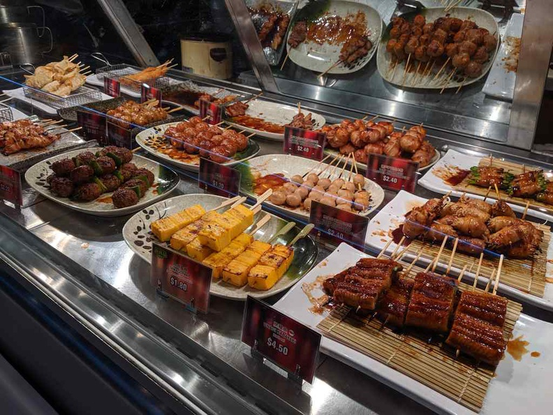 The Yakitori spread on offer