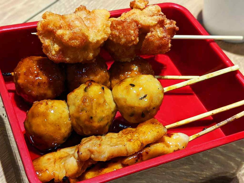 Charcoal-grilled Yakitori served as a side to go with your meal