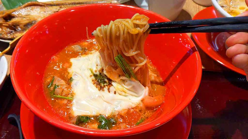 Recommend trying out the Tomato Cheese Ramen if you are in for something more unconventional
