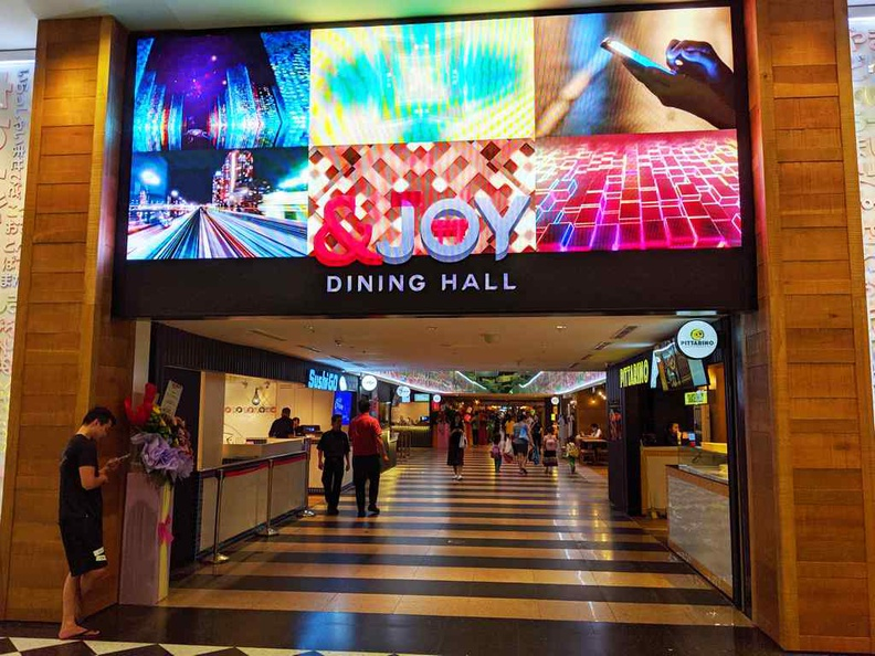 Entrance to the &JOY Japanese Dining hall at the basement of Jurong Point by Boon Lay