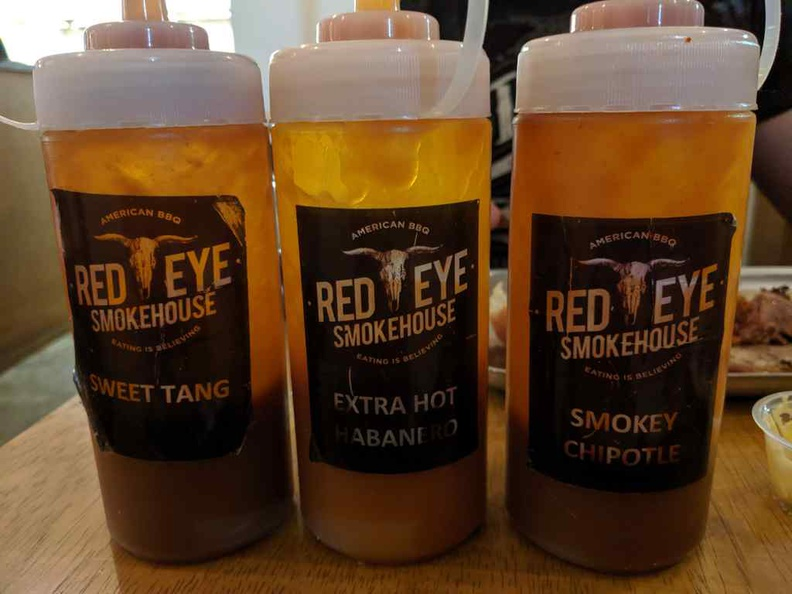 Red eye has sauces to suit all tastes, I found the Sweet Tang to be the best and unique of the bunch.