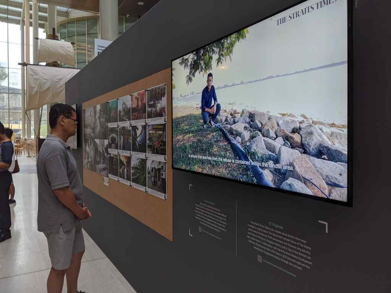 Print and video showcases of local Singapore photo journalism