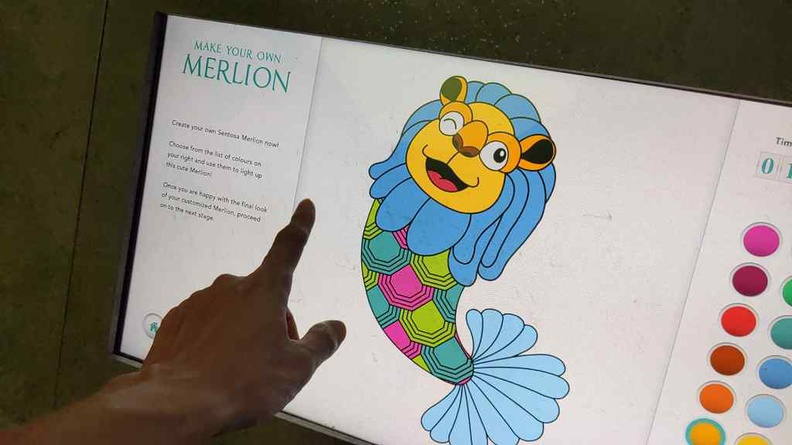 "Colour your own Merlion before setting it ""free"" into the exhibit"