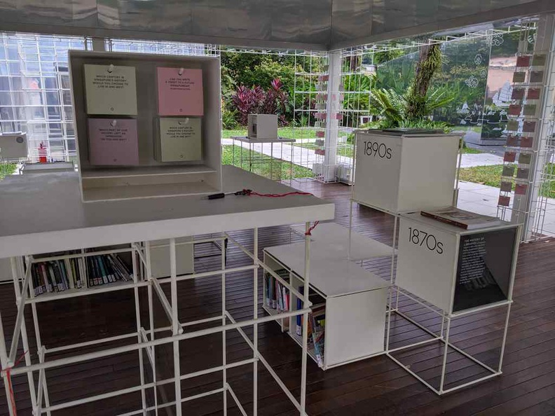 Sit down with a good book of your choice at the Library Pavilion of Words. There are cards for you to pen you thoughts too
