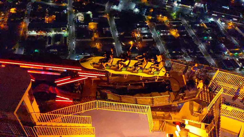 View of X-scream from above, notices how close it is to the edge