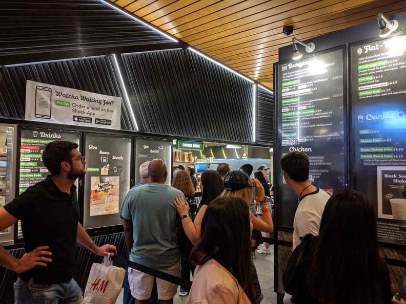 Shake Shack is popular nonetheless, with fast moving queue lines, giving you plenty of time to ponder what's on the menu